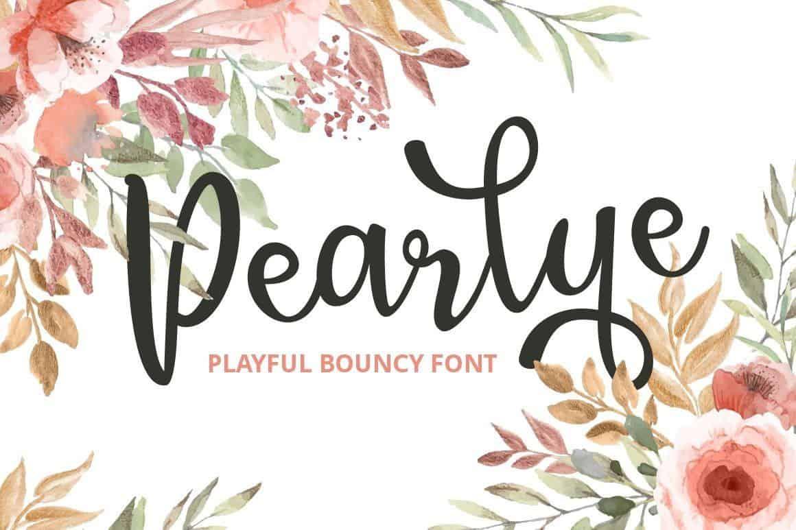 Pearlye шрифт скачать бесплатно