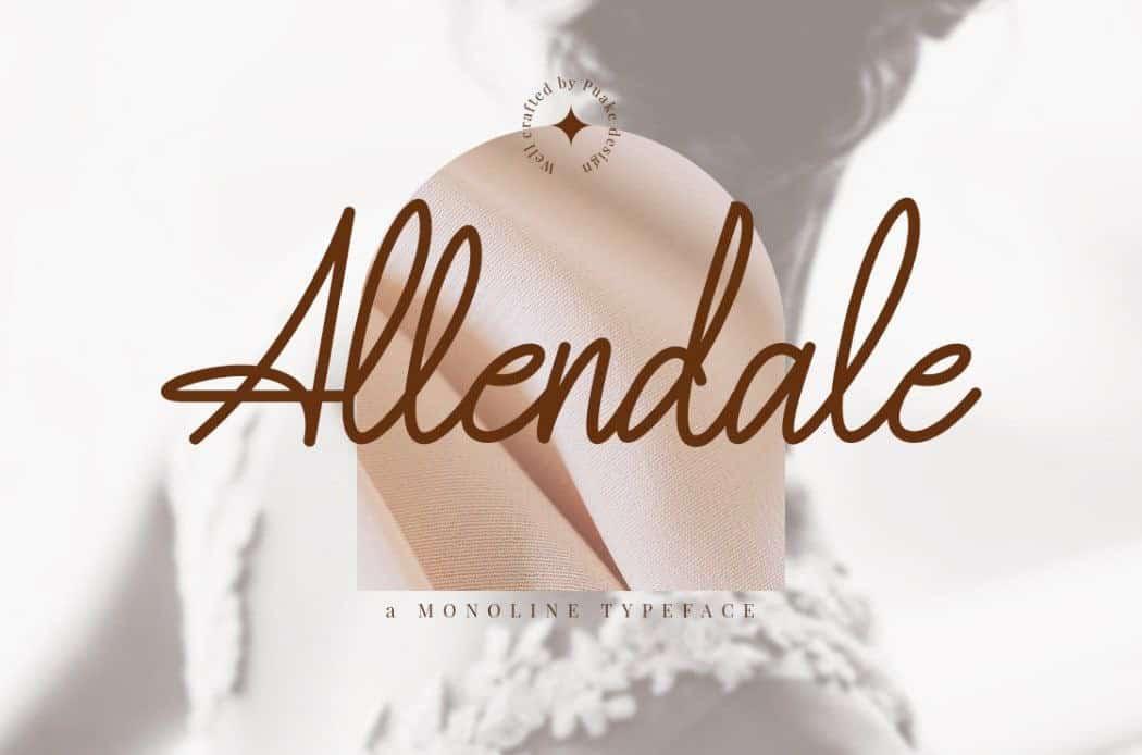 Allendale шрифт скачать бесплатно