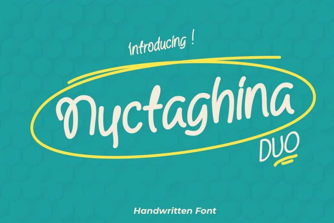 Nyctaghina шрифт скачать бесплатно