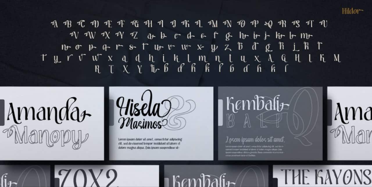 Hildor шрифт скачать бесплатно