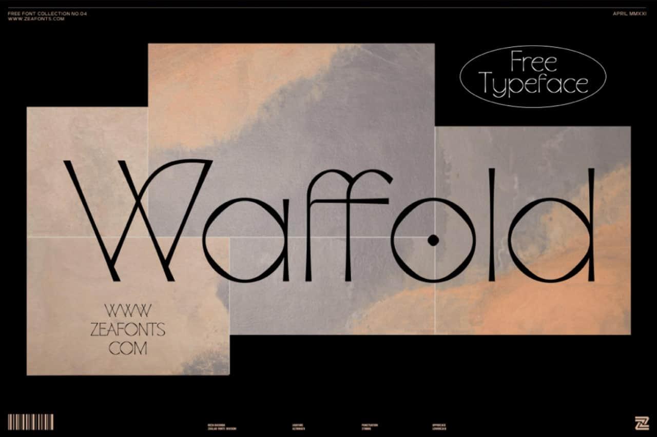 Waffold шрифт скачать бесплатно