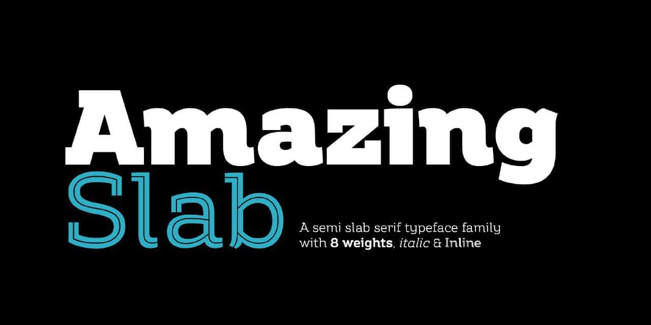 Amazing Slab шрифт скачать бесплатно
