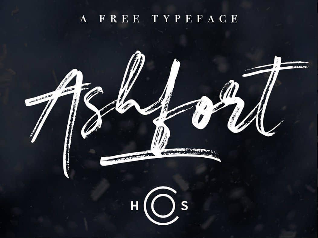 Ashfort шрифт скачать бесплатно