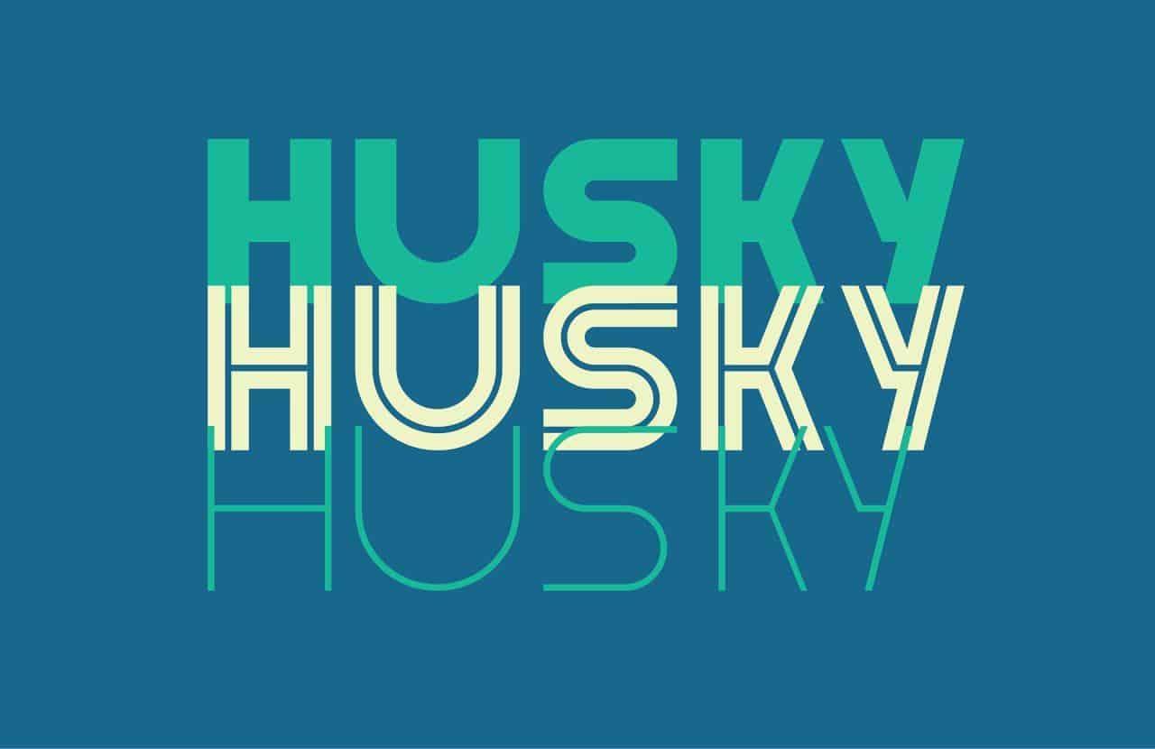 Husky шрифт скачать бесплатно