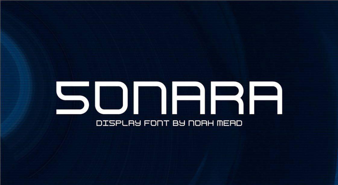 Sonara шрифт скачать бесплатно