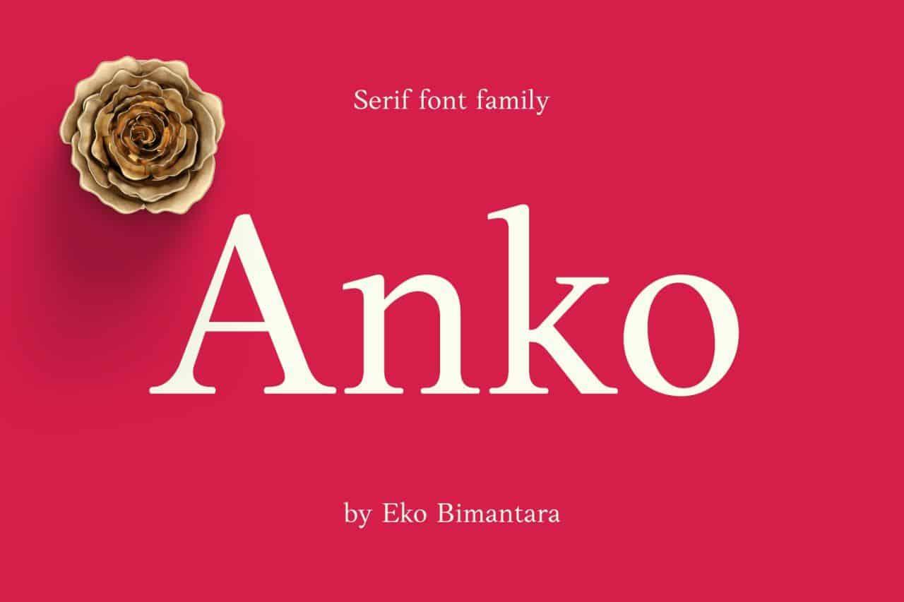 Anko шрифт скачать бесплатно