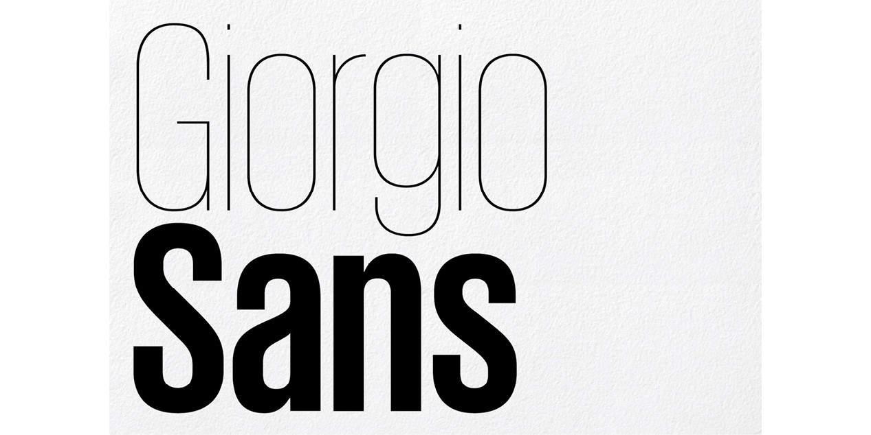Giorgio Sans Bold шрифт скачать бесплатно