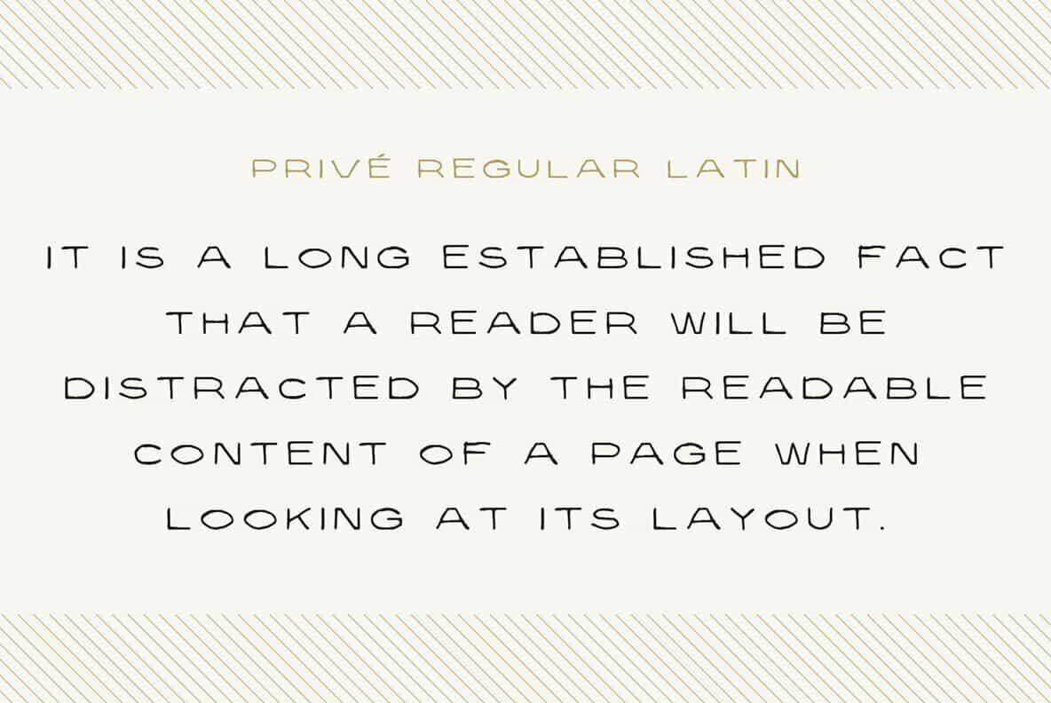 Prive шрифт скачать бесплатно