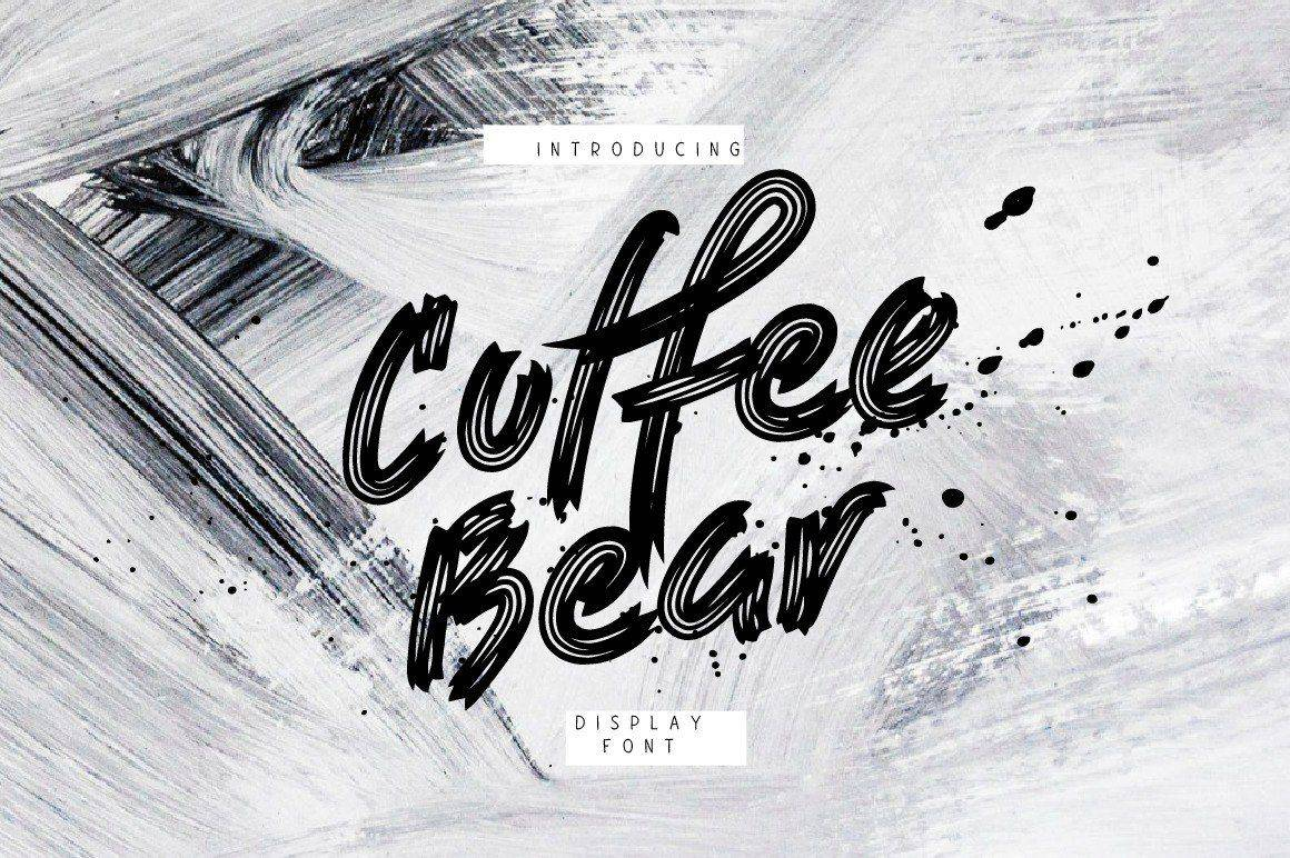 Coffee Bear шрифт скачать бесплатно