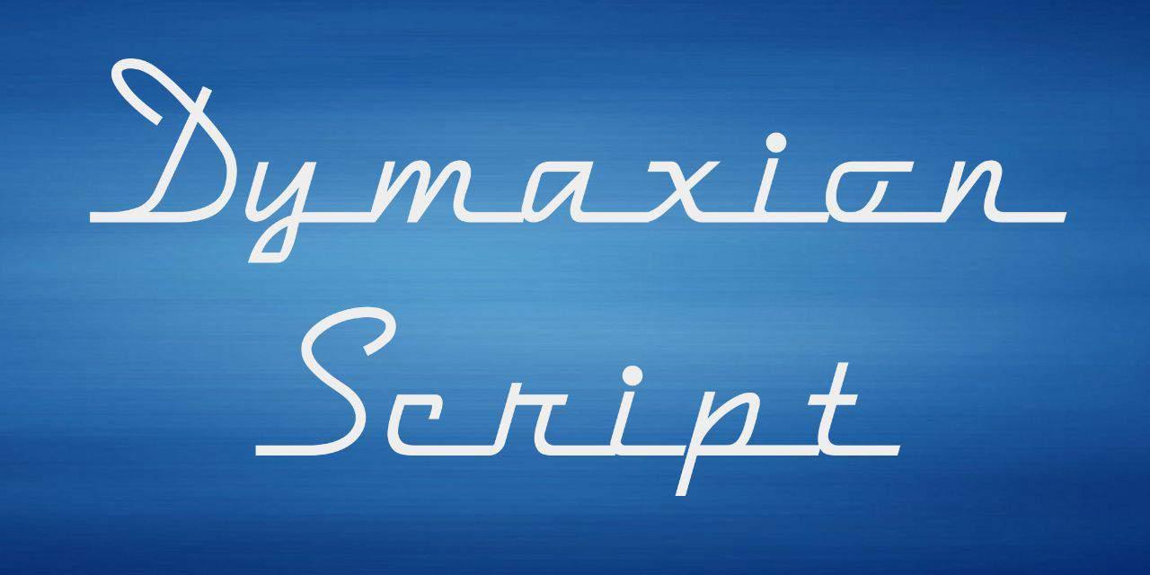Dymaxion Script шрифт скачать бесплатно