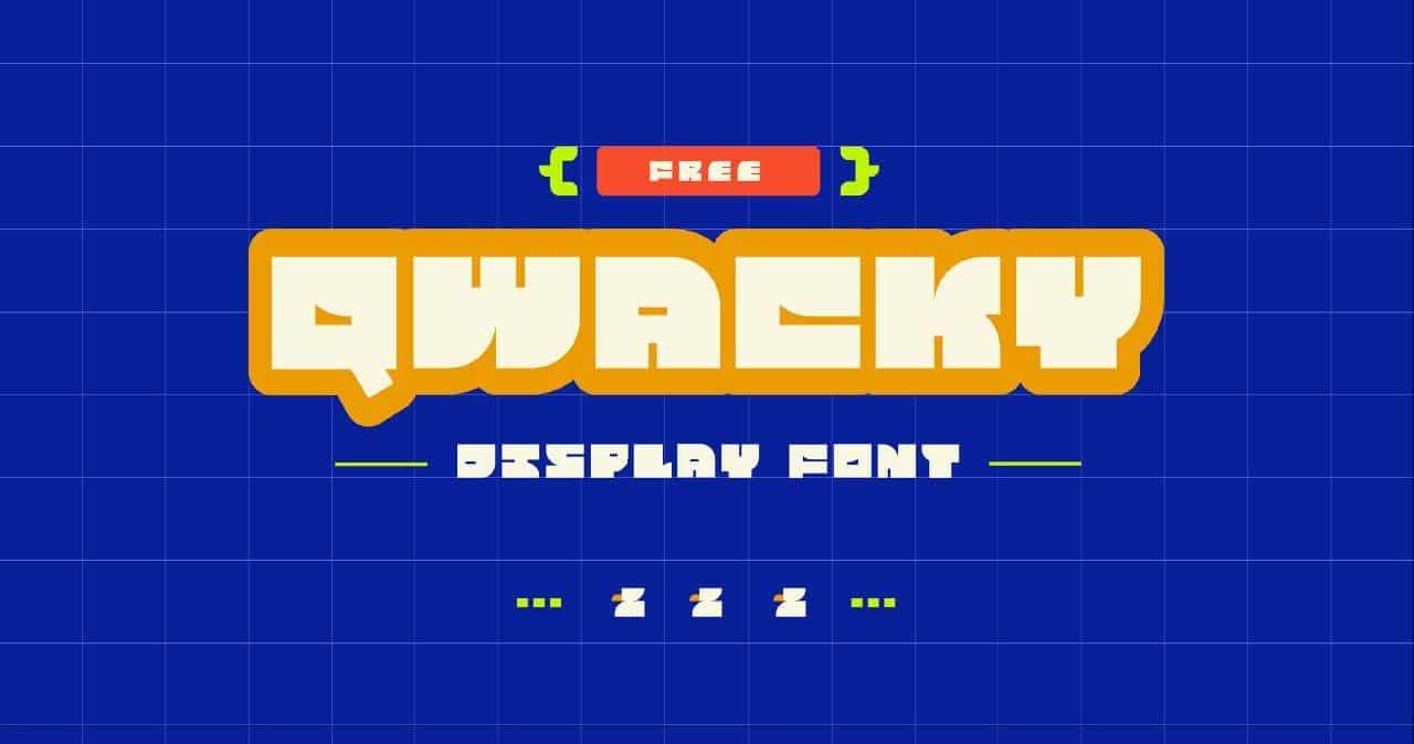 Qwacky шрифт скачать бесплатно