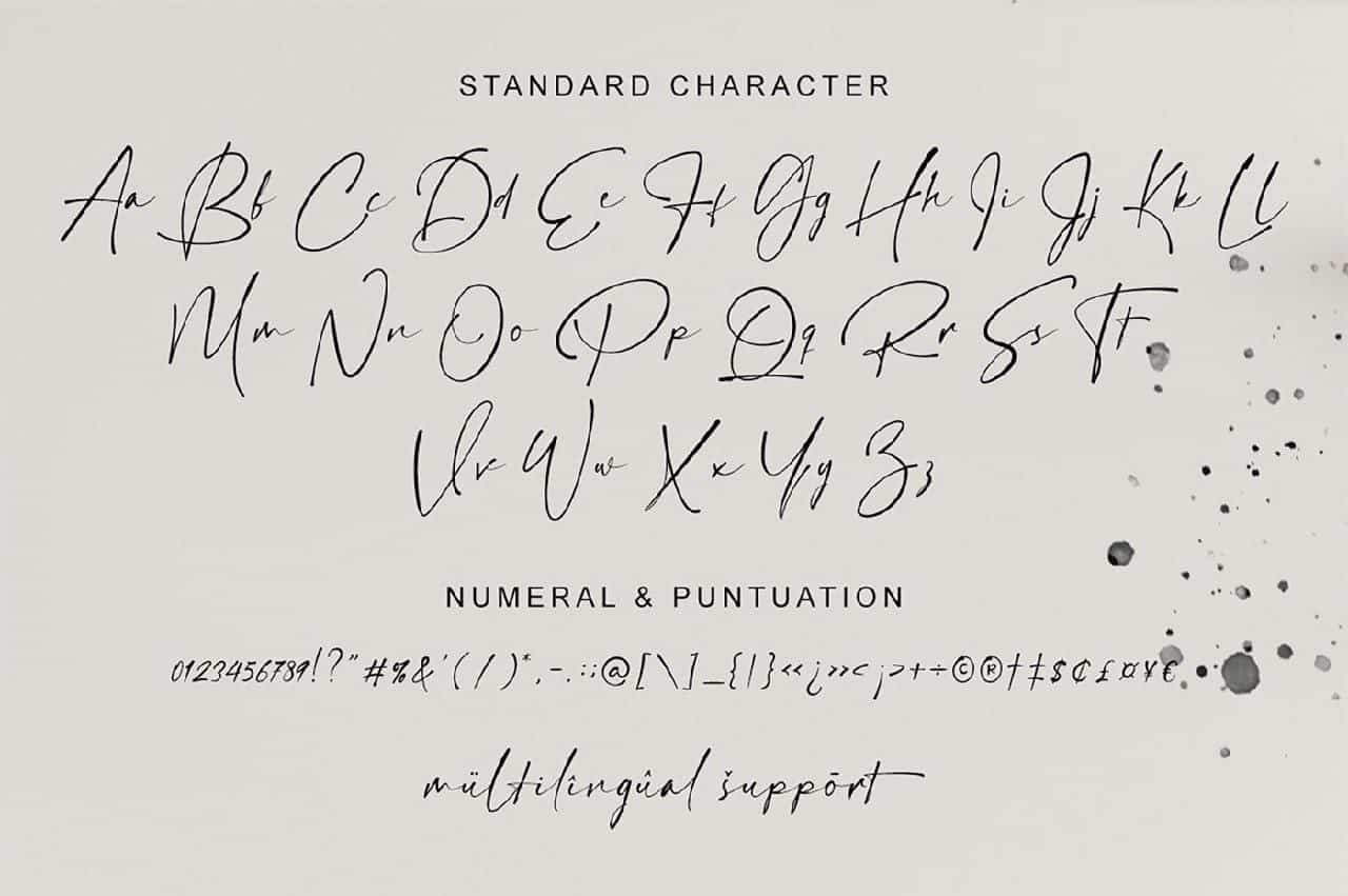 Hamiltone Signature шрифт скачать бесплатно