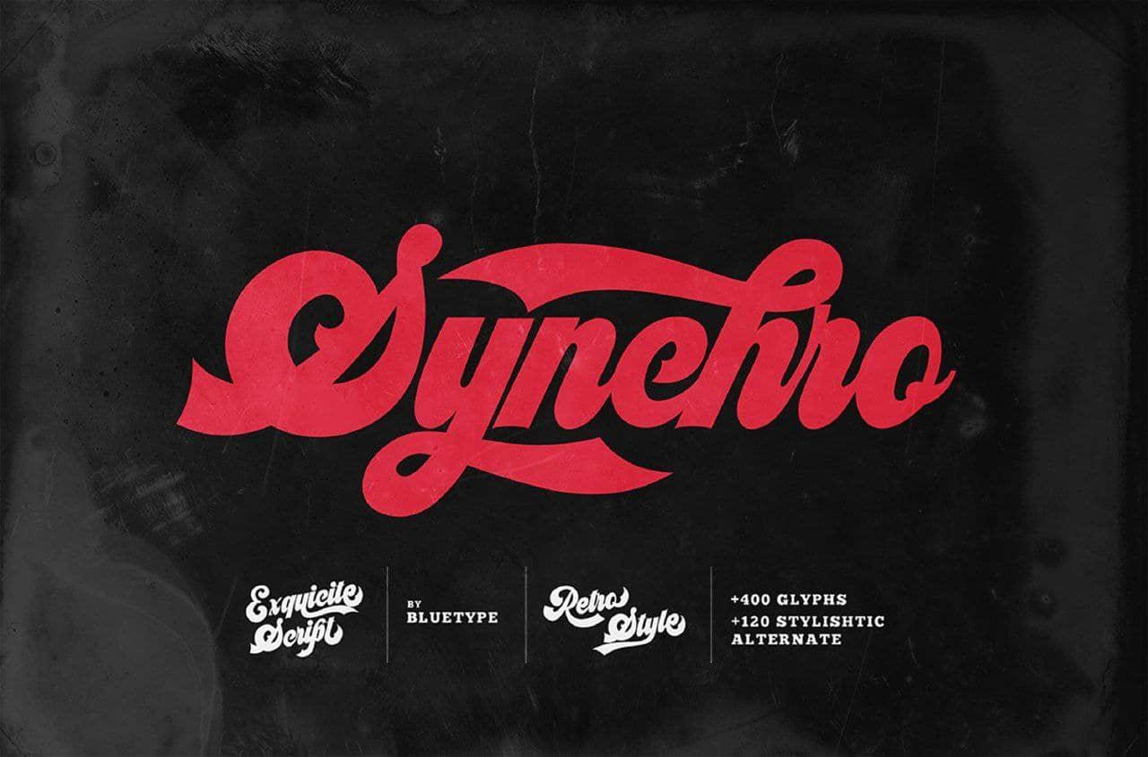 Synchro шрифт скачать бесплатно