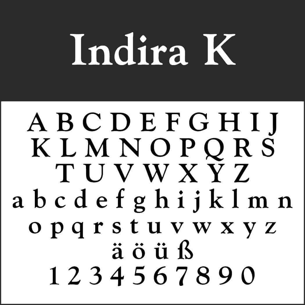 Indira K шрифт скачать бесплатно