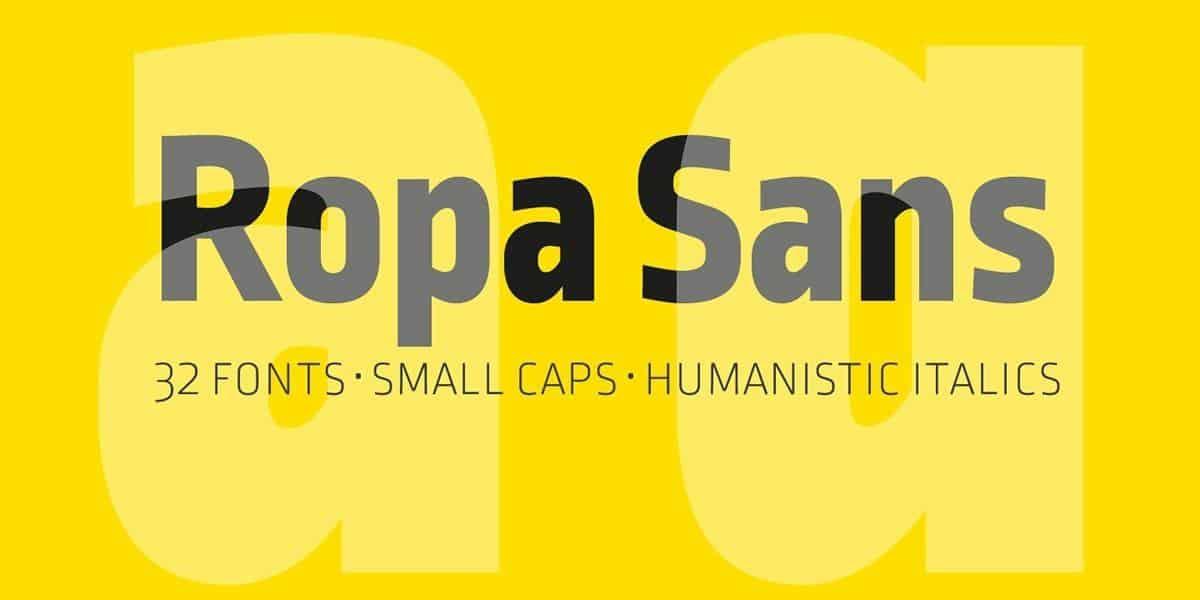 Ropa Sans шрифт скачать бесплатно