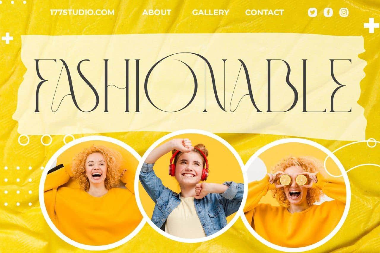 Fashionable шрифт скачать бесплатно