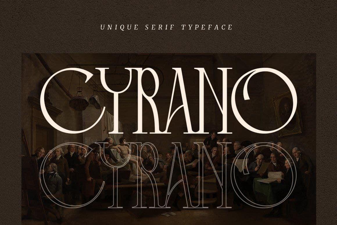 Cyrano шрифт скачать бесплатно
