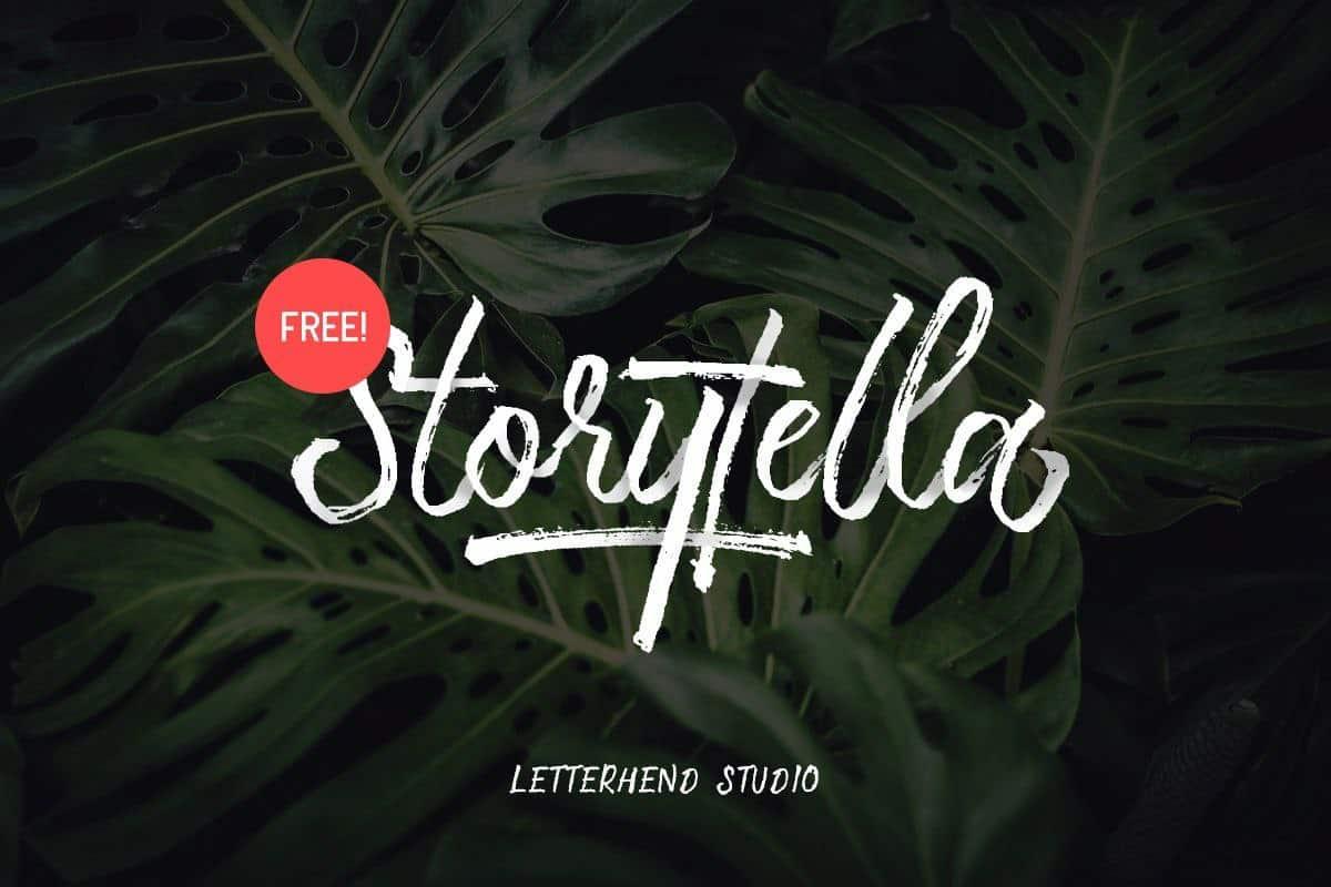 Storytella шрифт скачать бесплатно