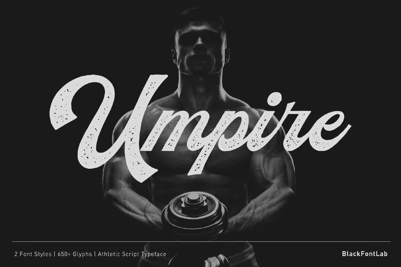 Umpire шрифт скачать бесплатно