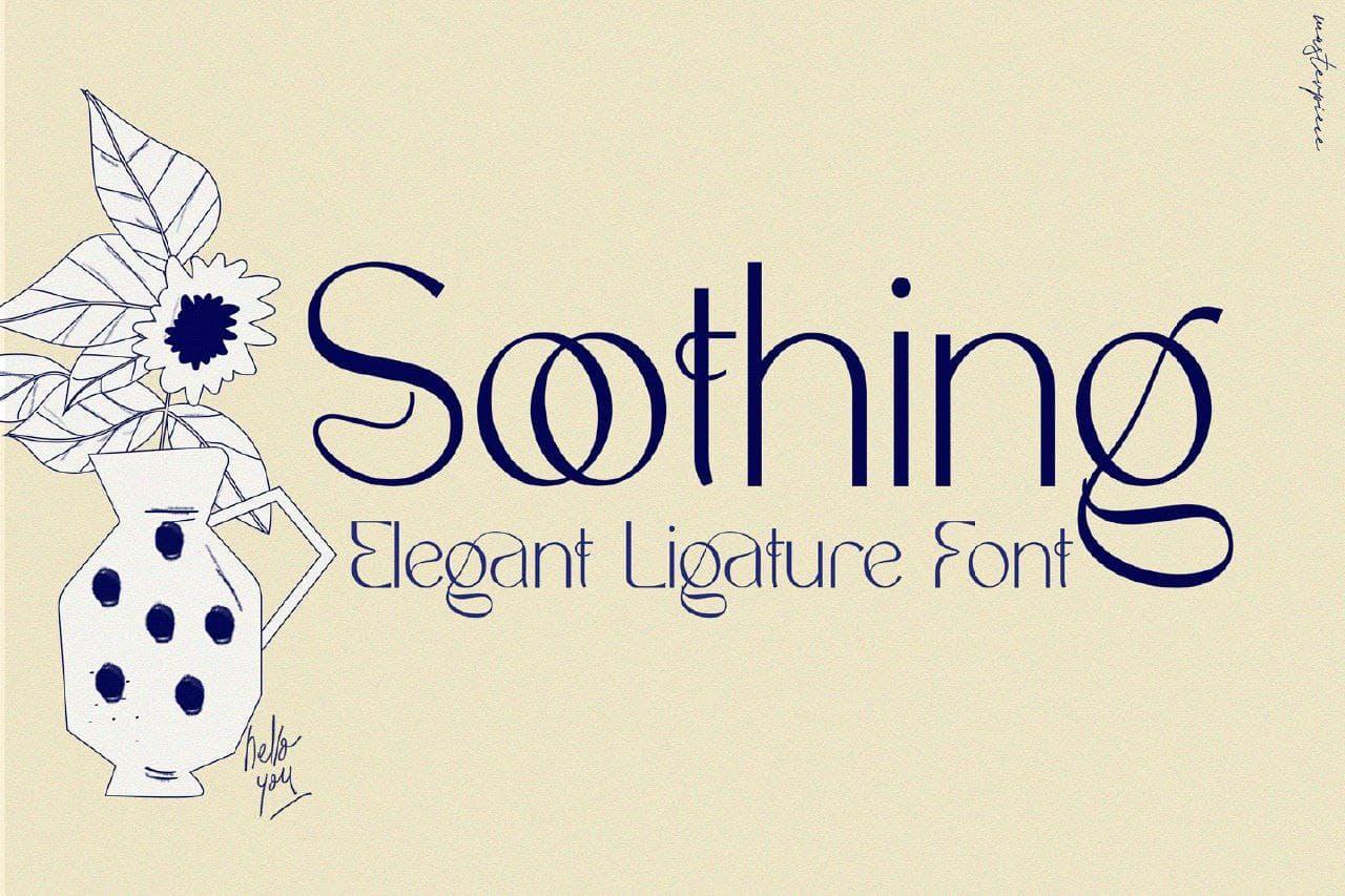 Soothing шрифт скачать бесплатно