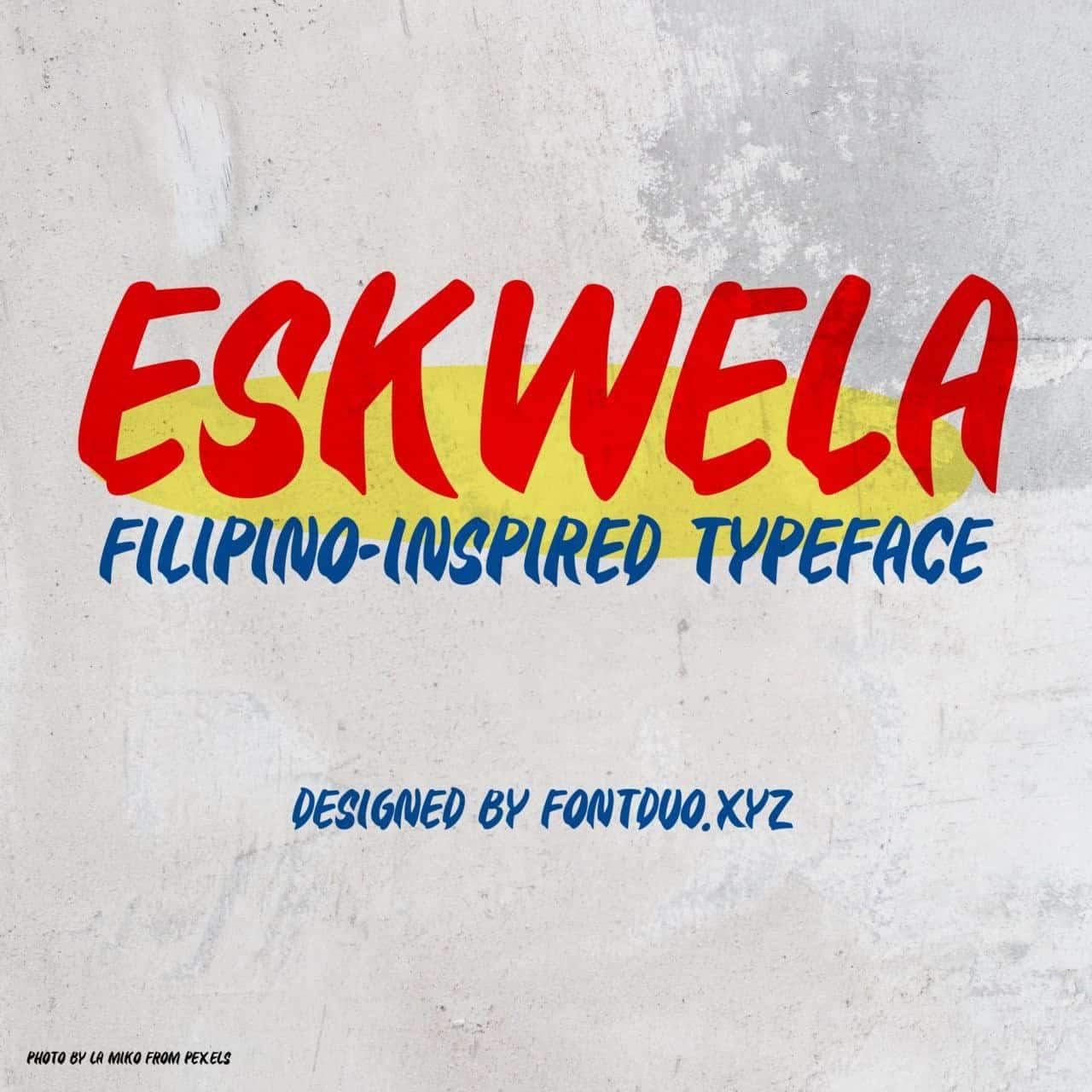 Eskwela шрифт скачать бесплатно