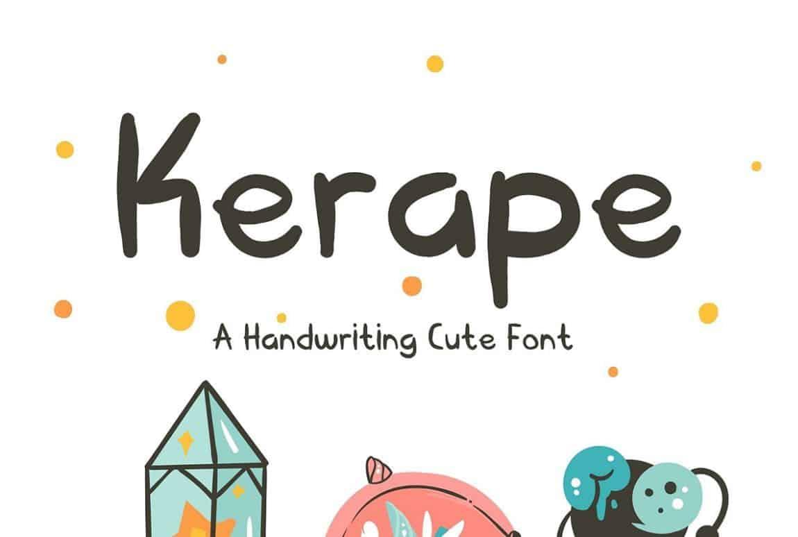 Kerape шрифт скачать бесплатно
