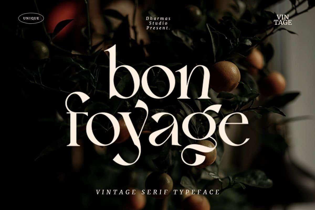 Bon Foyage шрифт скачать бесплатно