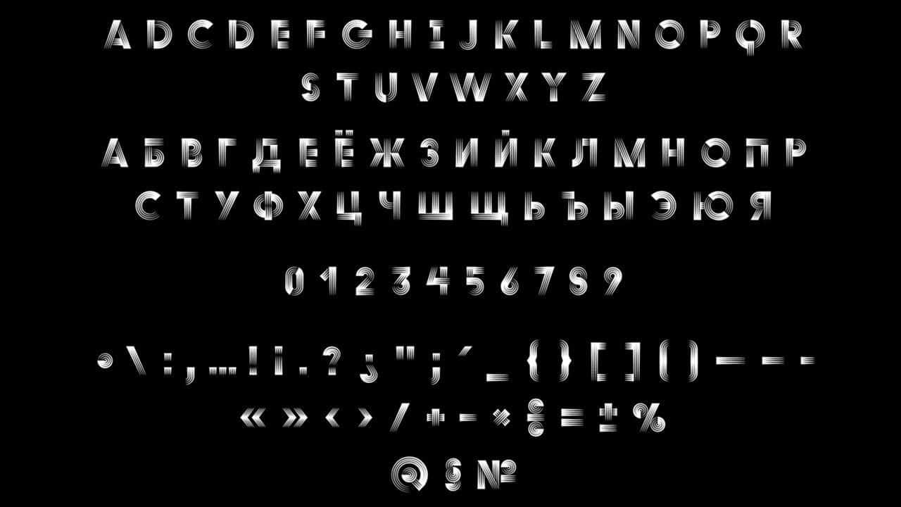 Duo Quadruple шрифт скачать бесплатно
