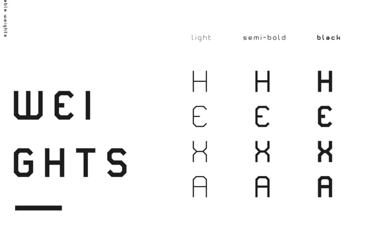 Hexa шрифт скачать бесплатно