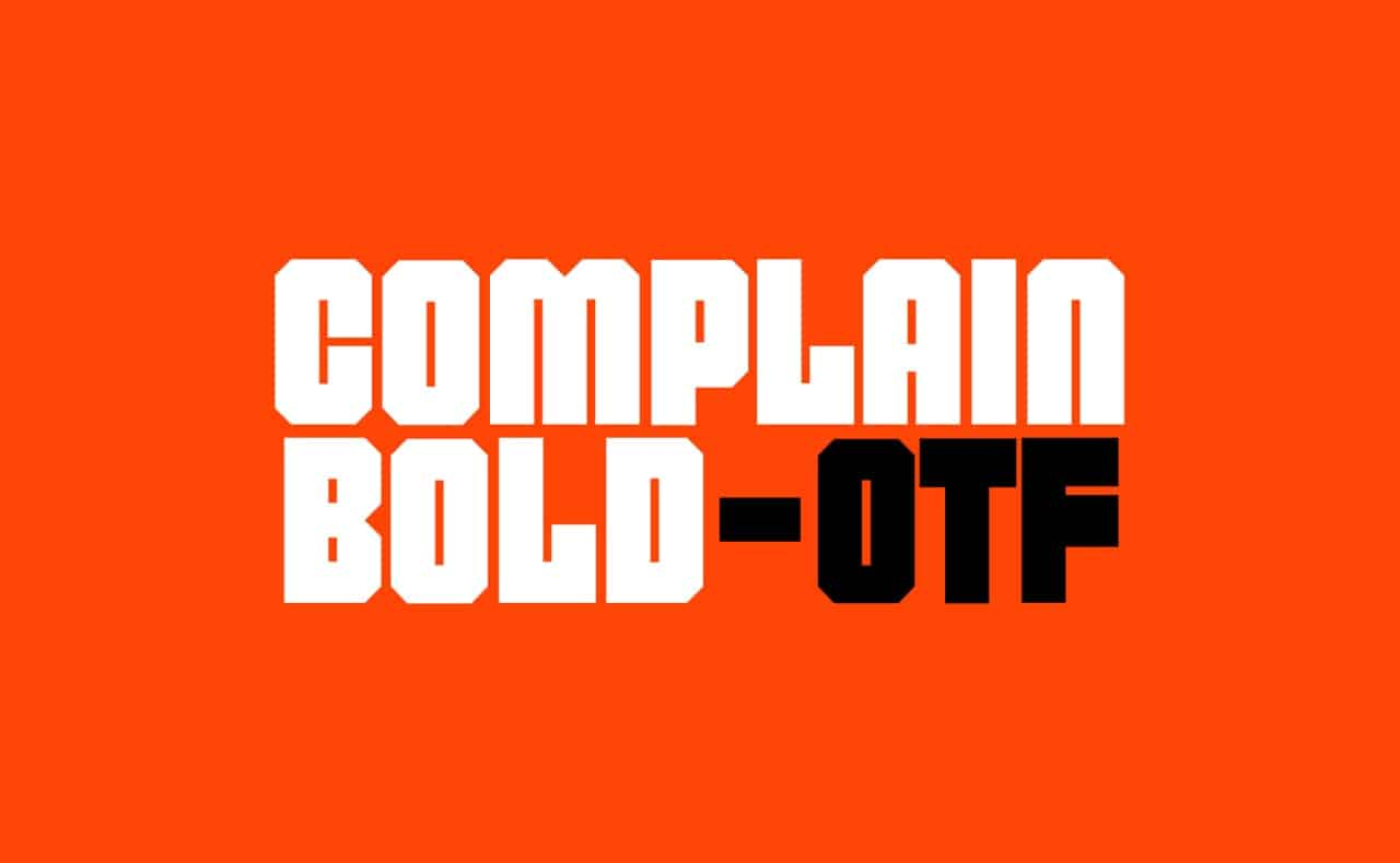 Complain Bold шрифт скачать бесплатно