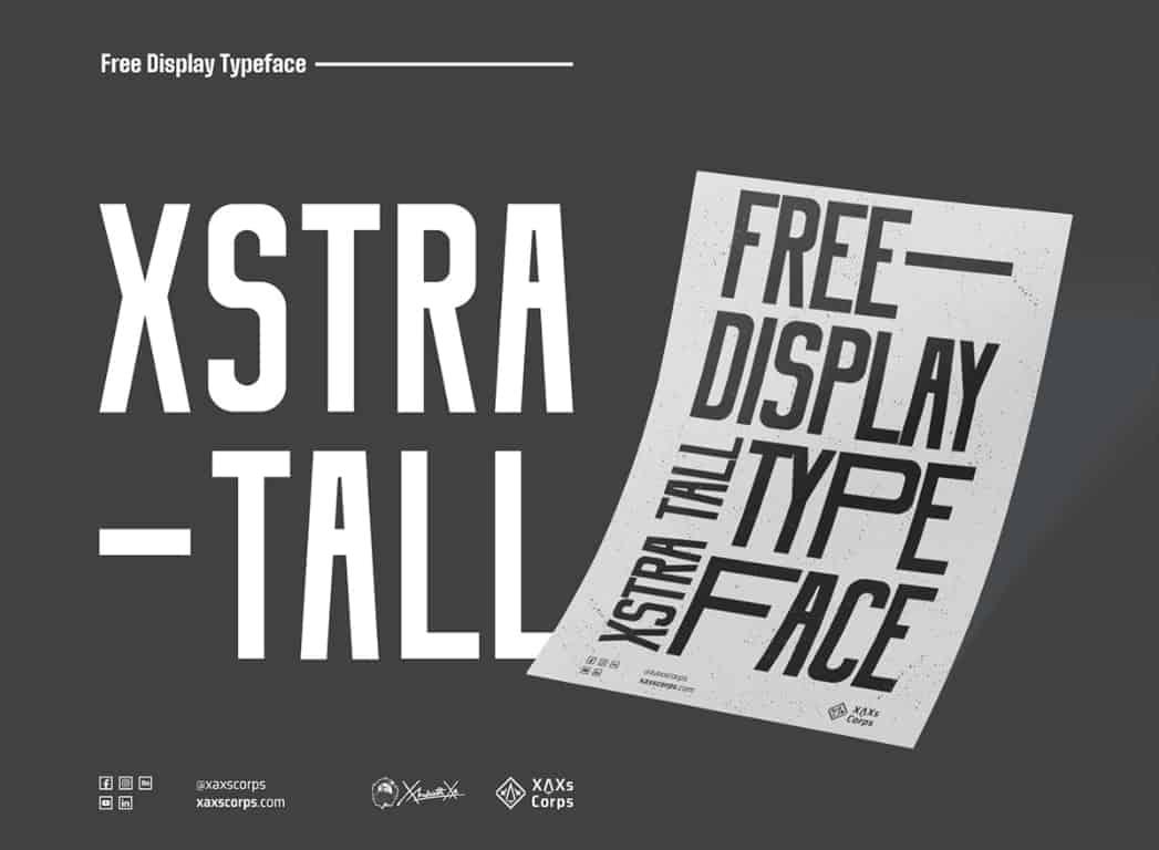 Xstra Tall шрифт скачать бесплатно
