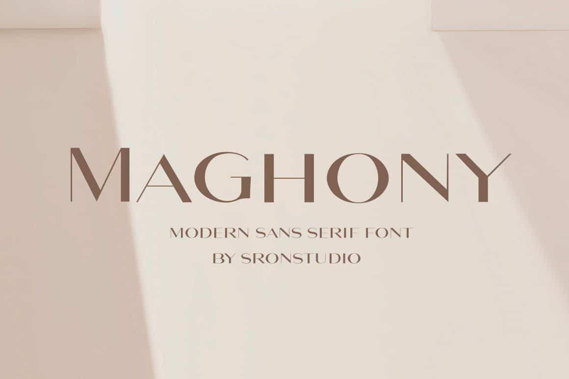 Maghony шрифт скачать бесплатно