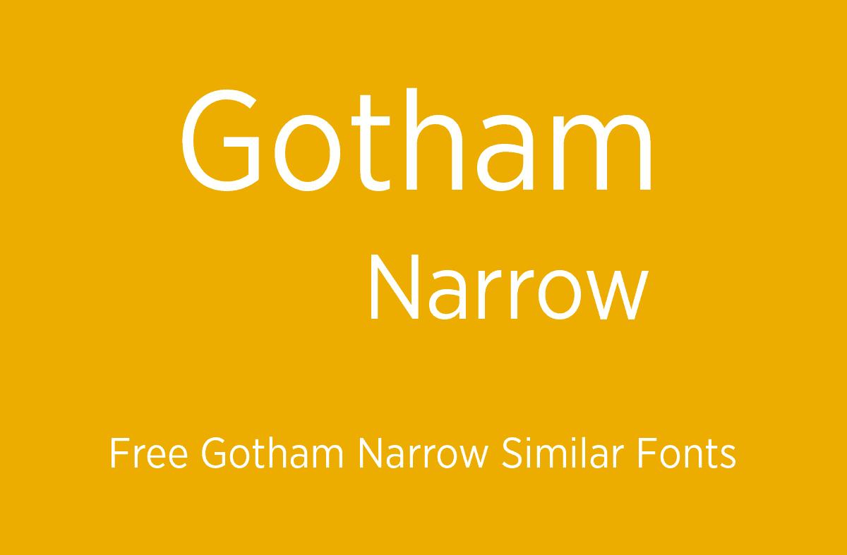 Gotham Narrow шрифт скачать бесплатно