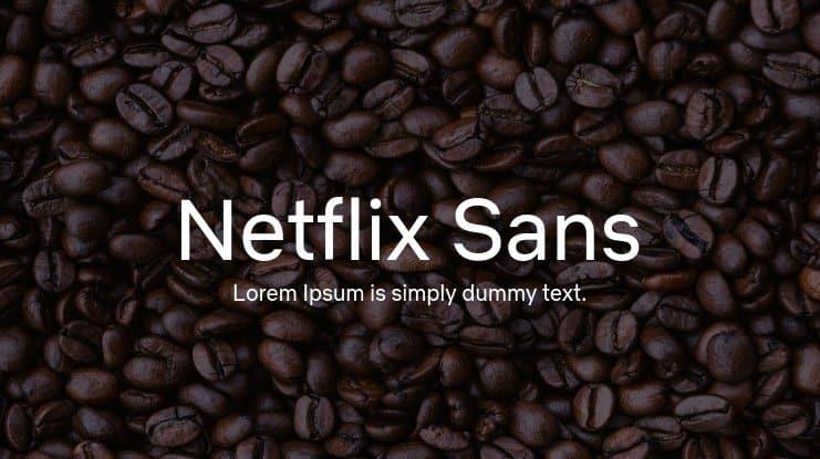 Netflix Sans шрифт скачать бесплатно