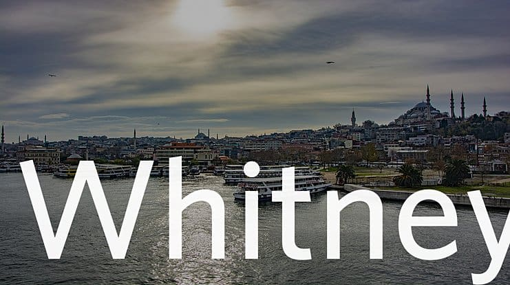 Whitney шрифт скачать бесплатно